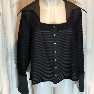JS Collections Women 22 Formal Black Blouse NWT